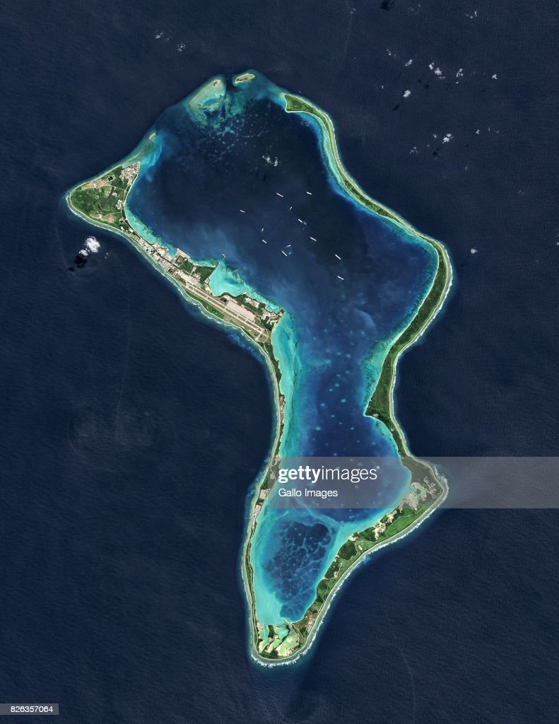 Satellite view of the Diego Garcia : News Photo