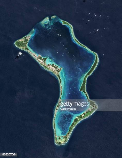 Diego Garcia a British Indian Ocean Territory and the largest of the islands in the Chagos Archipelago on July 02 2013 in Diego Garcia British Indian...
