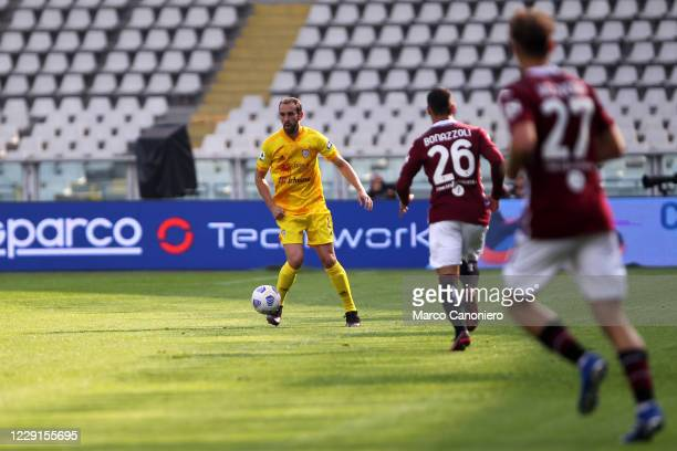 Diego Godin of Cagliari Calcio in action during the Serie A match between Torino Fc and Cagliari Calcio Cagliari Calcio wins 32 over Torino Fc