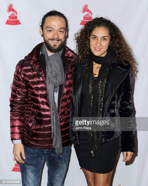 Diego Guerrero and Nasrine Rahmani attend the CPI Event during the 18th annual Latin Grammy Awards at the Hardwood Suite at Palms Casino Resort on...