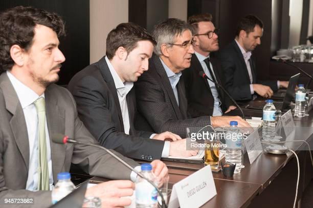 Diego Guillen EB Competition Director Ed Scott Chief Operations Officer Jordi Bertomeu CEO and Director of Eurolague Basketball Alex Ferrer EB...
