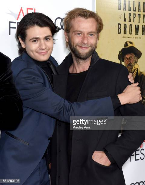 Diego Josef and Joe Anderson attend the screening of 'Ballad Of Lefty Brown' at AFI FEST 2017 Presented By Audi at the Egyptian Theatre on November...