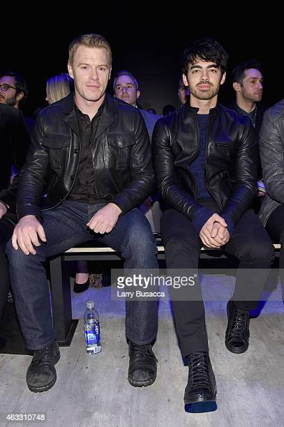 Diego Klattenhoff and Joe Jonas attend the Todd Snyder fashion show during Mercedes-Benz Fashion Week Fall 2015 at The Pavilion at Lincoln Center on...