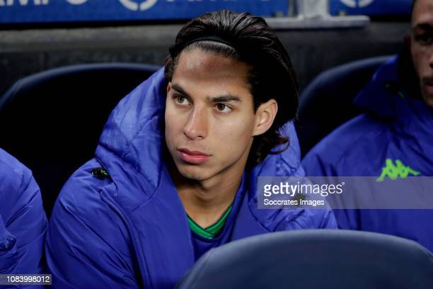Diego Lainez of Real Betis during the Spanish Copa del Rey match between Real Sociedad v Real Betis Sevilla at the Estadio Anoeta on January 17 2019...
