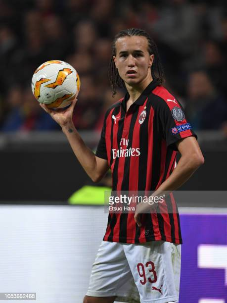 Diego Laxalt of AC Milan in action during the UEFA Europa League Group F match between AC Milan and Real Betis at Stadio Giuseppe Meazza on October...