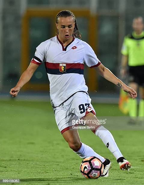 Diego Laxalt of Genoa CFC in action during the Serie A match between FC Crotone and Genoa CFC at Adriatico Stadium on August 28 2016 in Pescara Italy