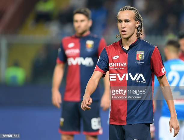 Diego Laxalt of Genoa CFC in action during the Serie A match between Genoa CFC and SSC Napoli at Stadio Luigi Ferraris on October 25 2017 in Genoa...