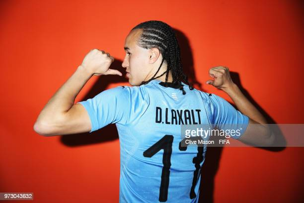 Diego Laxalt of Uruguay poses during the official FIFA World Cup 2018 portrait session at the Borsky Sports Centre on June 12 2018 in Nizhny Novgorod...