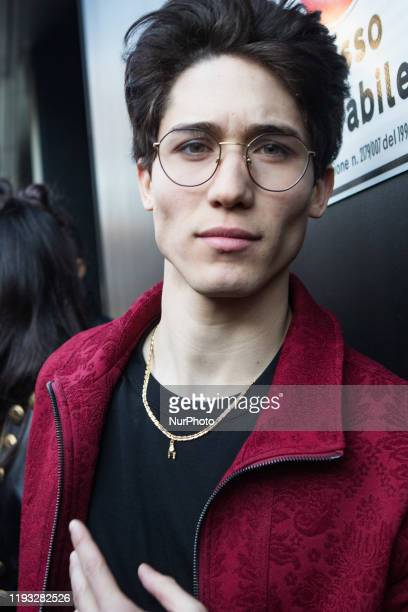 Diego Lazzari arrivals at Dolce e Gabbana fashion show during the Milan Fashion Week 2020 in Milan, Italy, on January 11 2020