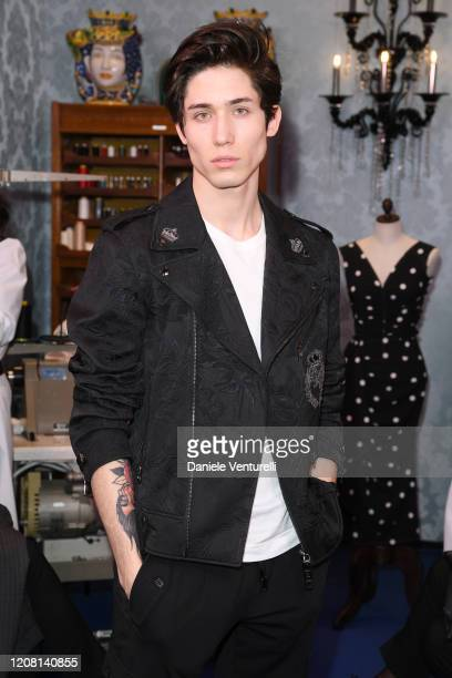 Diego Lazzari attends the runway at the Dolce & Gabbana fashion show on February 23, 2020 in Milan, Italy.