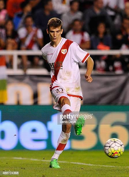 Diego Llorente of Rayo Vallecano in action during the La Liga match between Rayo Vallecano and RC Deportivo La Coruna at Estadio Teresa Rivero on...