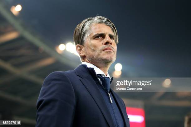 Diego Lopez head coach of Cagliari Calcio looks on before the Serie A football match between Torino FC and Cagliari Calcio Torino Fc wins 21 over...
