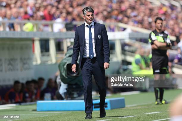 Diego Lopez manager of Cagliari Calcio during the serie A match between ACF Fiorentina and Cagliari Calcio at Stadio Artemio Franchi on May 13 2018...