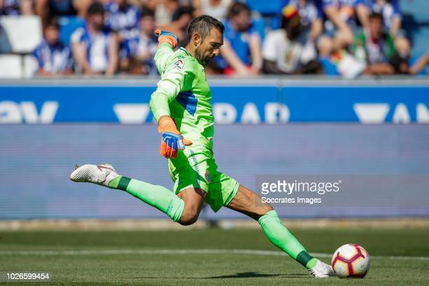 Diego Lopez of Espanyol during the La Liga Santander match between Deportivo Alaves v Espanyol at the Estadio de Mendizorroza on September 2 2018 in...