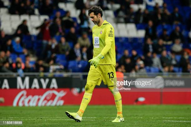 Diego Lopez of RCD Espanyol during the La Liga Santander match between RCD Espanyol and CA Osasuna and in RCD Stadium in Barcelona 01 of December of...