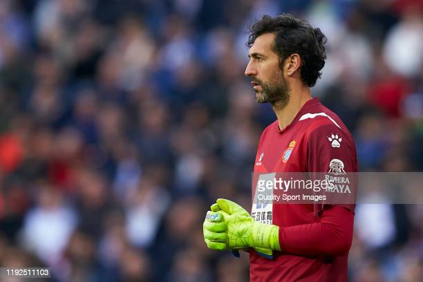 Diego Lopez of Real Madrid looks on during the La Liga match between Real Madrid CF and RCD Espanyol at Estadio Santiago Bernabeu on December 07 2019...
