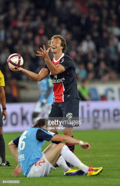 Diego LUGANO / Nolan ROUX PSG / Brest 5eme journee de Ligue 1 Photo Dave Winter / Icon Sport