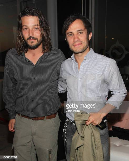 Diego Luna and Gael Garcia Bernal arrive to the Closing Night Gala for the Baja International Film Festival at Los Cabos Convention Center on...