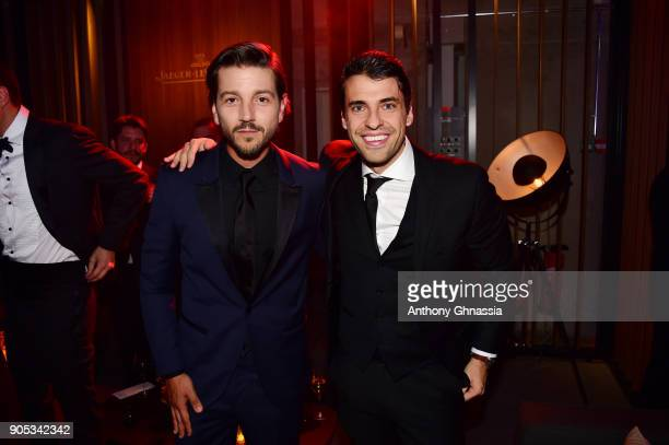 Diego Luna and Jorge Viladoms attend JaegerLeCoultre Polaris Gala Evening at the SIHH 2018 at Pavillon Sicli on January 15 2018 in Les Acacias...