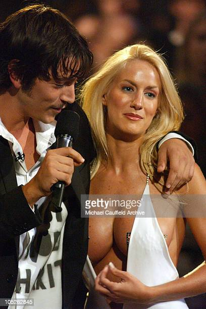 Diego Luna and Luciana Salazar during MTV Video Music Awards Latin America 2003 Show at The Jackie Gleason Theater in Miami Beach Florida United...