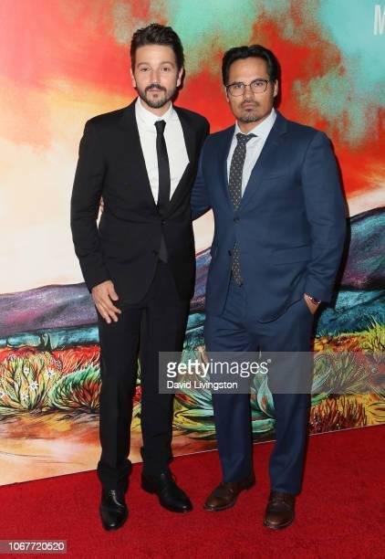 Diego Luna and Michael Peña attend Netflix's Narcos Mexico Season 1 Premiere at Regal Cinemas LA Live on November 14 2018 in Los Angeles California