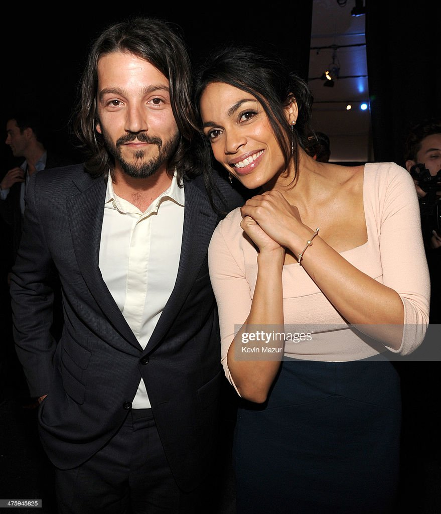 Diego Luna and Rosario Dawson attend the 2014 Film Independent Spirit Awards at Santa Monica Beach on March 1, 2014 in Santa Monica, California.