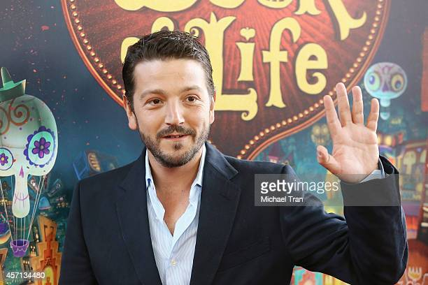 "Diego Luna arrives at the Los Angeles premiere of ""Book Of Life"" held at Regal Cinemas L.A. Live on October 12, 2014 in Los Angeles, California."