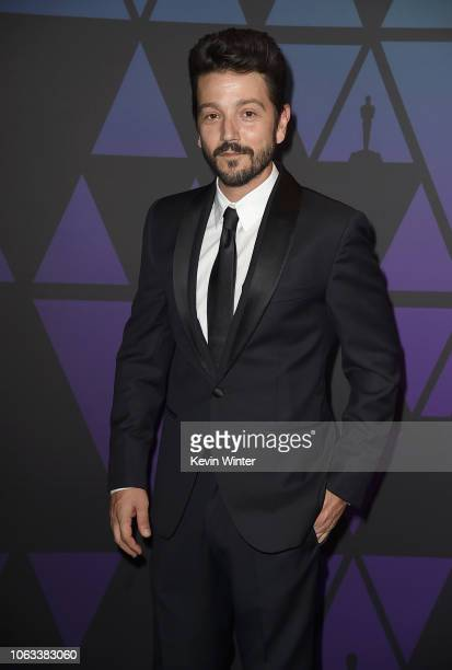 Diego Luna attends the Academy of Motion Picture Arts and Sciences' 10th annual Governors Awards at The Ray Dolby Ballroom at Hollywood Highland...