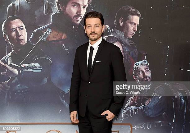 Diego Luna attends the exclusive screening of Lucasfilm's highly anticipated firstever standalone Star Wars adventure Rogue One A Star Wars Story at...