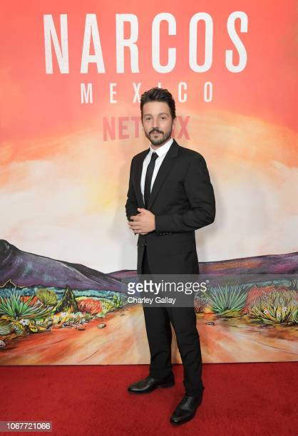 Diego Luna attends the Netflix Original Series Narcos Mexico special screening at LA Live in Los Angeles CA on November 14 2018 in Los Angeles...