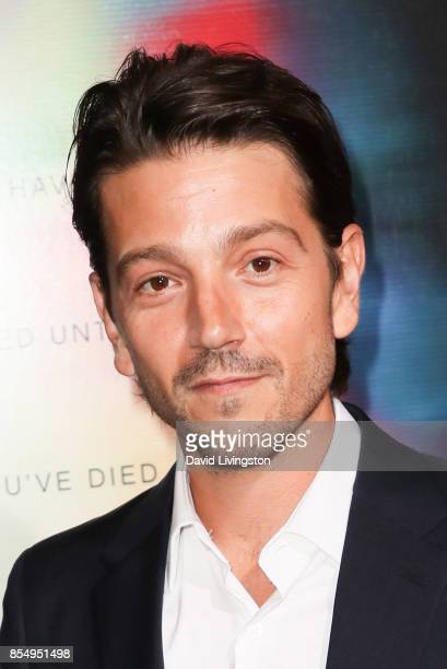 Diego Luna attends the premiere of Columbia Pictures' 'Flatliners' at The Theatre at Ace Hotel on September 27 2017 in Los Angeles California
