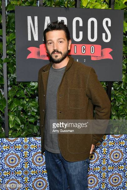 Diego Luna attends the premiere of Netflix's Narcos Mexico Season 2 at Netflix Home Theater on February 6 2020 in Los Angeles California