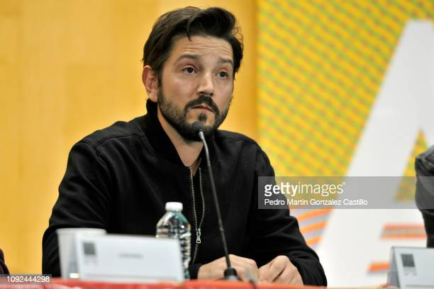 Diego Luna attends the screening of the documentary 'Hasta los Dientes' or 'Armed to the Teeth' at Camara de Diputados January 10 2019 in Mexico City...