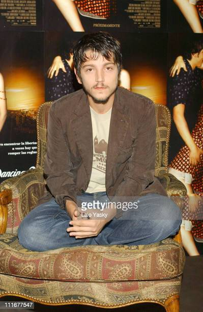 Diego Luna during 'Dirty Dancing Havana Nights' Photocall at Palace Hotel in Madrid Spain