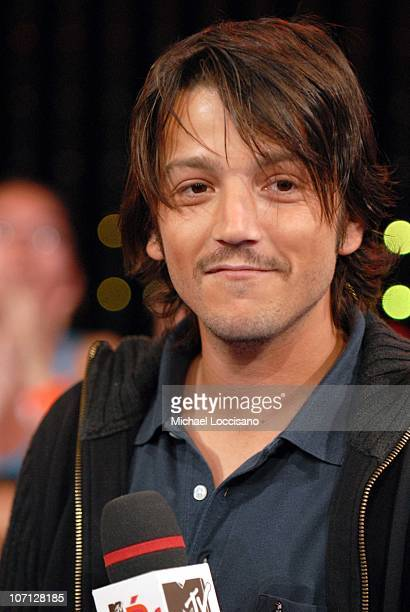 Diego Luna during NeYo Diego Luna and Obe Visit and Jennifer Pena Guest Host MTV Tr3s' MiTRL April 24 2007 at MTV Studios Times Square in New York...