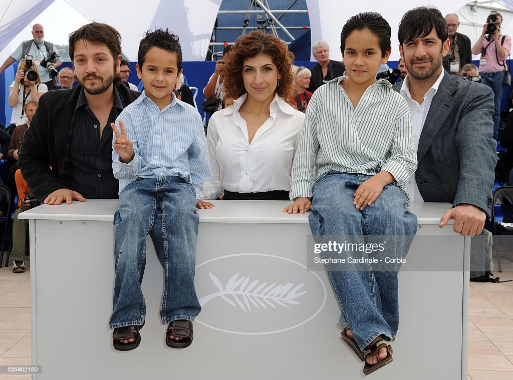 Diego Luna, Karina Gidi, Gerardo Ruiz Esparza, Christopher Ruiz Esparza and Jose Maria Yazpik at the photocall for 'Abel' during the 63rd Cannes International Film Festival.