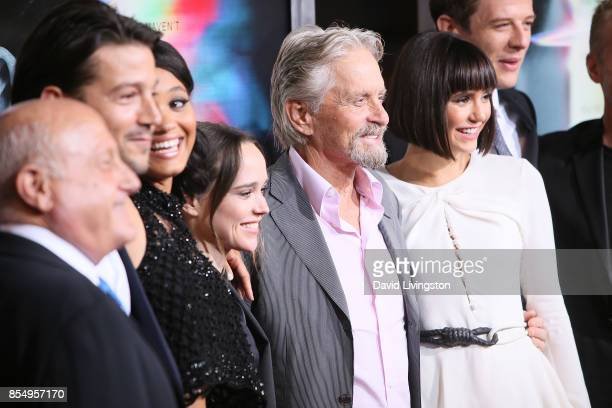 Diego Luna Kiersey Clemons Ellen Page Michael Douglas Nina Dobrev and James Norton attend the premiere of Columbia Pictures' 'Flatliners' at The...
