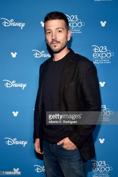 Diego Luna of 'What If' took part today in the Disney Showcase at Disney's D23 EXPO 2019 in Anaheim Calif 'What If' will stream exclusively on Disney...