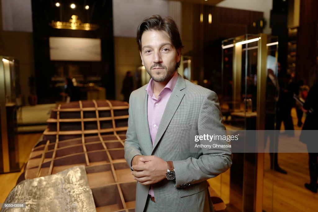 Diego Luna poses during Jaeger-LeCoultre Polaris at the SIHH 2018 at Pavillon Sicli on January 15, 2018 in Les Acacias, Switzerland.