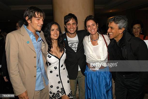 Diego Luna Salma Hayek Gael Garca Bernal Julie Taymor and Caetano Veloso