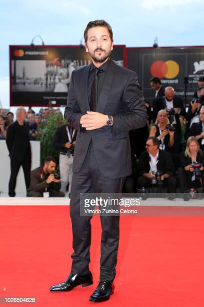 Diego Luna walks the red carpet ahead of the 'At Eternity's Gate' screening during the 75th Venice Film Festival at Sala Grande on September 3 2018...