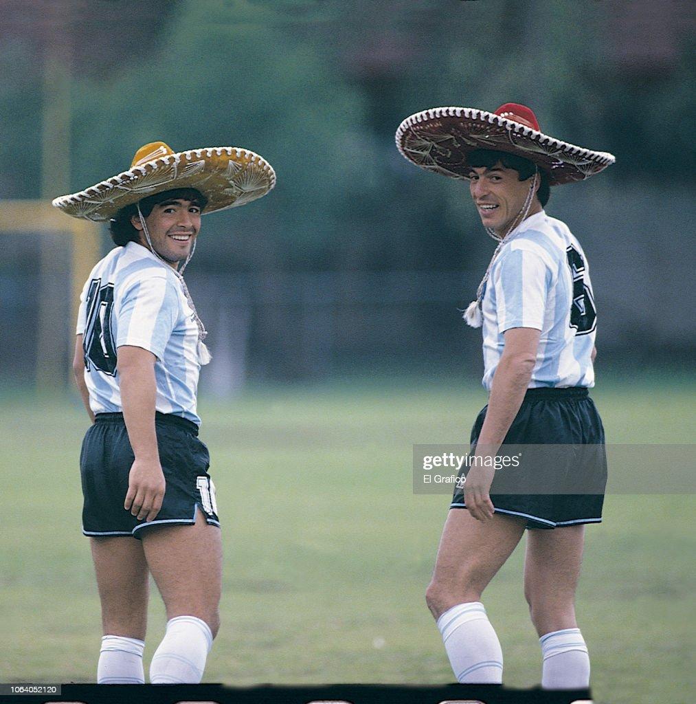 Diego Maradona - El Grafico Sports Archive : News Photo