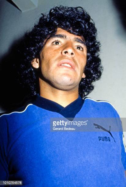 Diego Maradona during a photo session at Barcelona Spain on January 1rd 1981