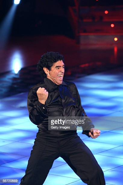 Diego Maradona during the opening of tv show Ballando con le stelle at the RAI Auditorium tv studio on September 17 2005 in Rome Italy