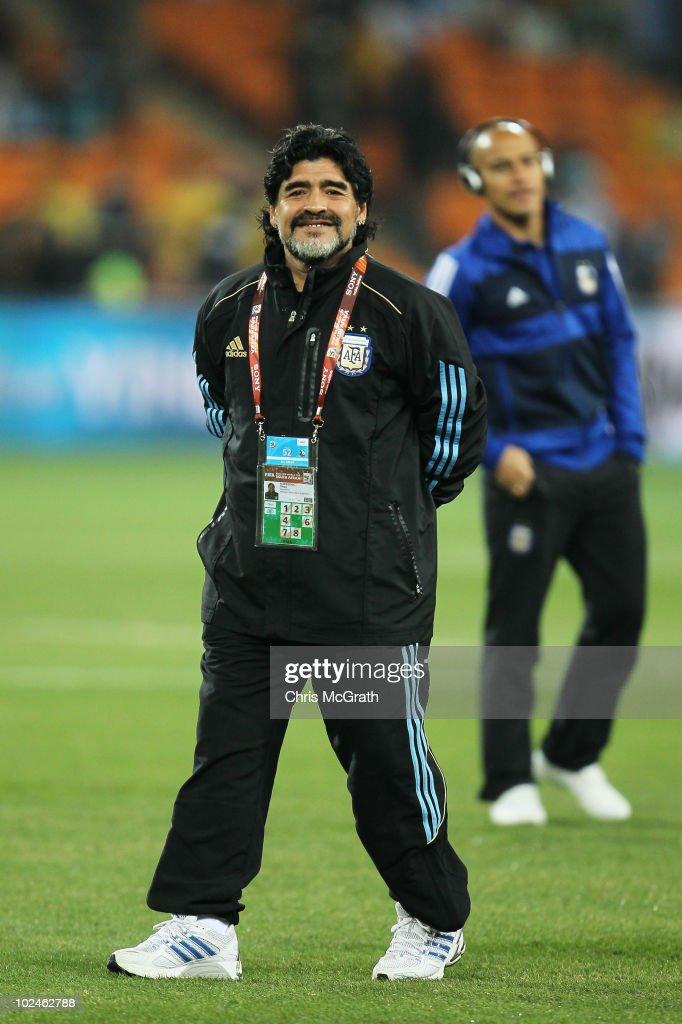 Argentina v Mexico: 2010 FIFA World Cup - Round of Sixteen : Nachrichtenfoto