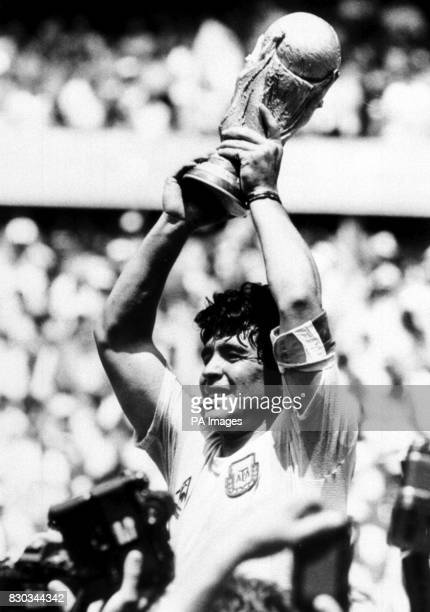 Diego Maradona holds up the World Cup after Argentina beat West Germany in the World Cup Final in Mexico. * : Argentina could risk finding themselves...