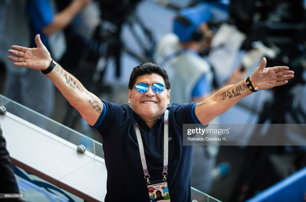 Diego Maradona Is Seen During The 2018 Fifa World Cup Russia Round Of News Photo Getty Images