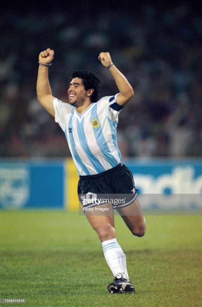 Diego Maradona Argentina 1990 FIFA World Cup : ニュース写真
