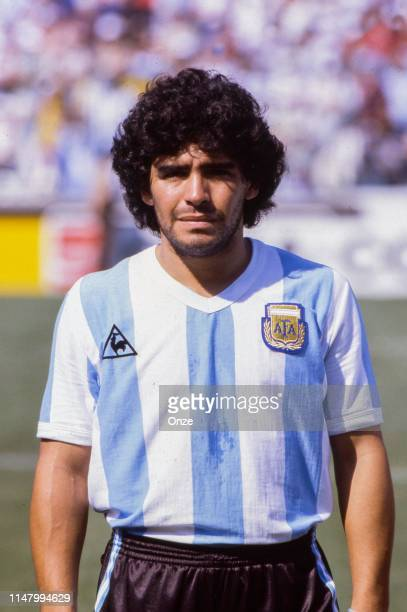 Diego Maradona of Argentina during the World Cup 1982 match between Argentina and Italy, on June 29th in Estadi de Sarria, in Barcelona, Spain. Photo...