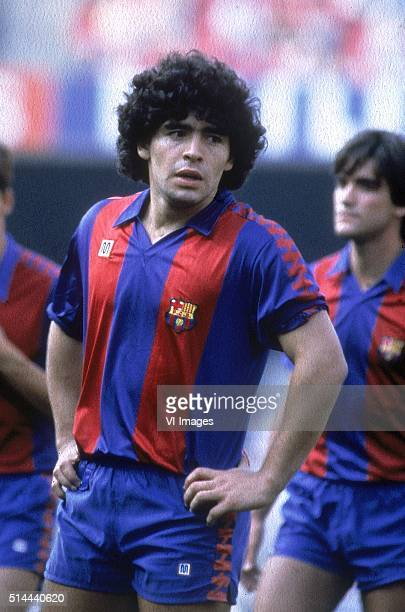 Diego Maradona of FC Barcelona in action for FC Barcelona on January 13, 1983 at the Camp Nou stadium in Barcelona, Spain.
